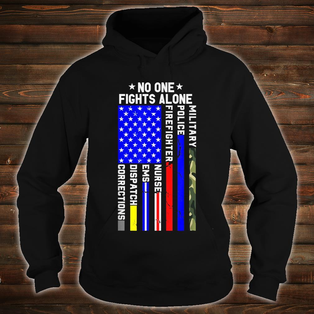 Americans Stand For Their First Responders Political Shirt hoodie