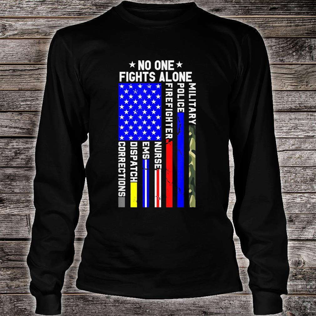 Americans Stand For Their First Responders Political Shirt long sleeved