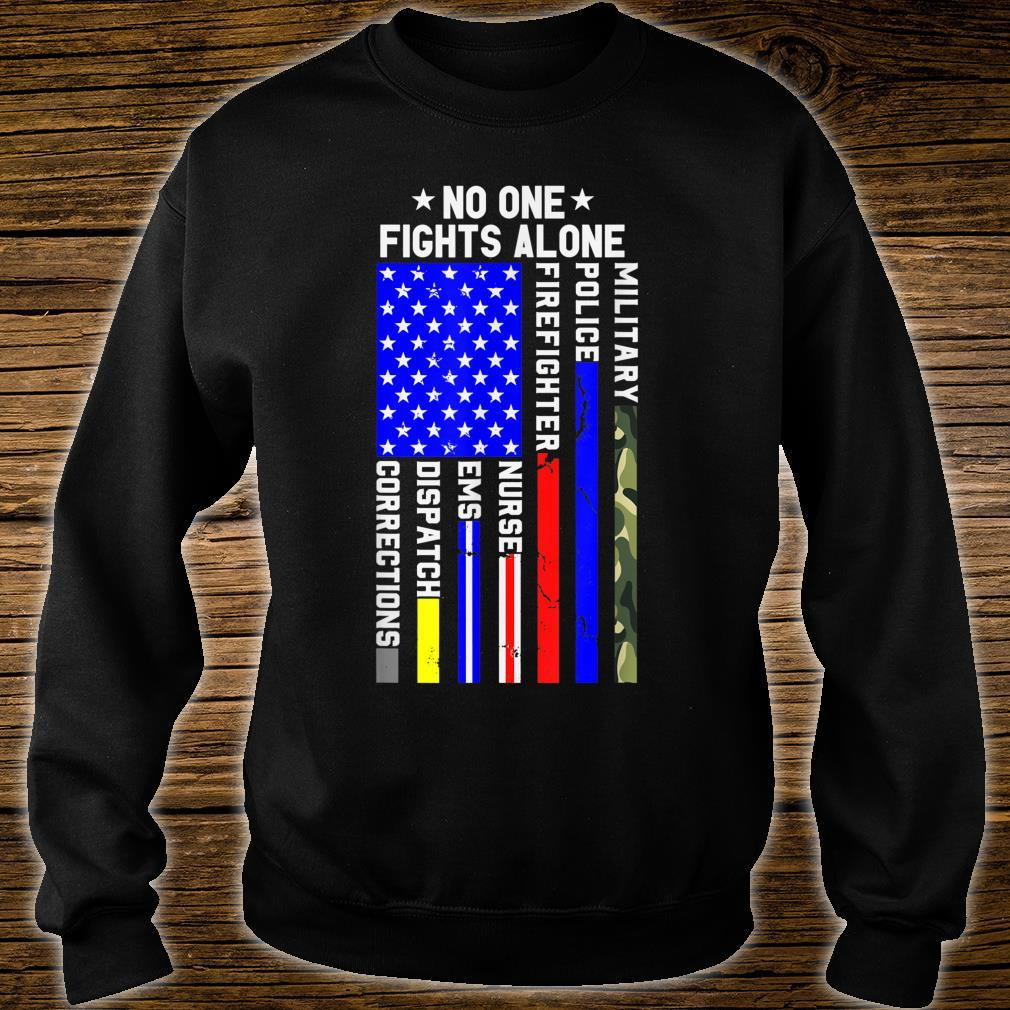 Americans Stand For Their First Responders Political Shirt sweater
