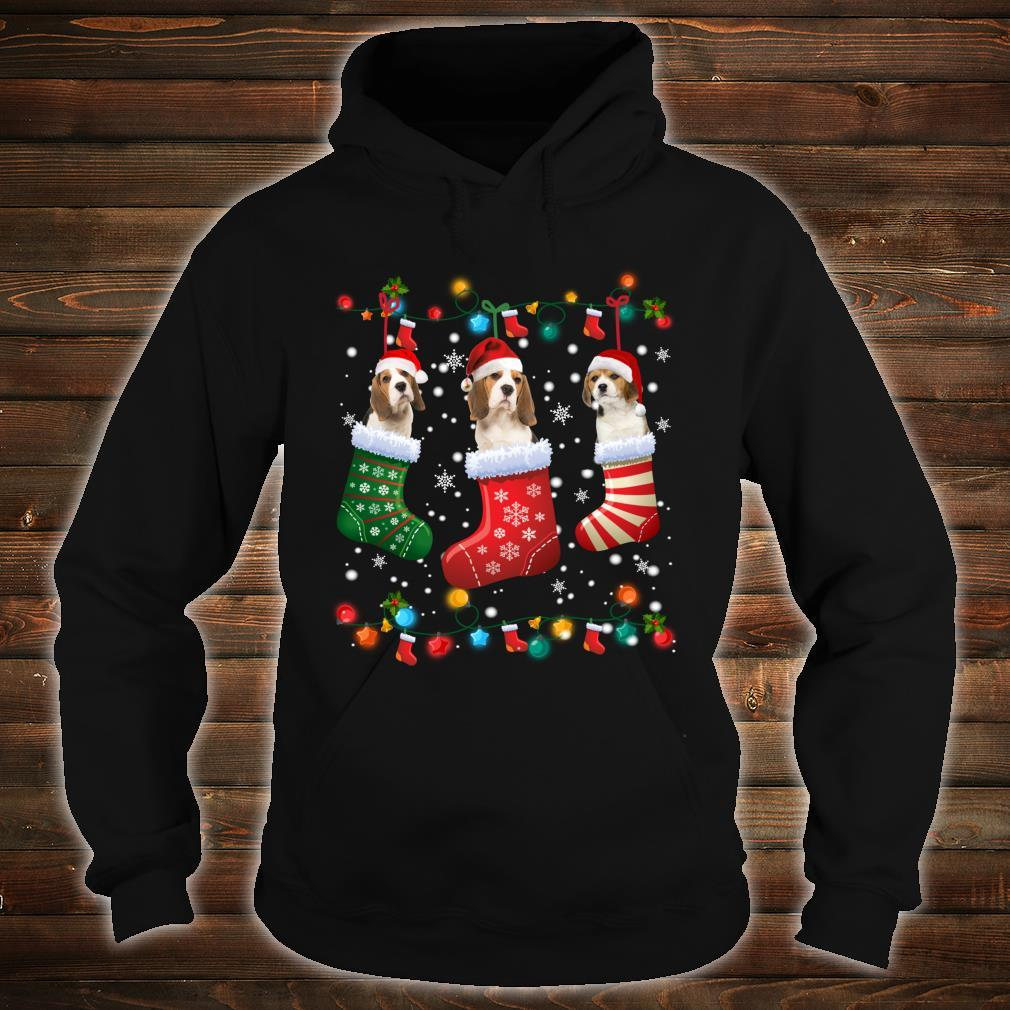 Beagle Christmas Socks Xmas Pajama Dog Shirt hoodie