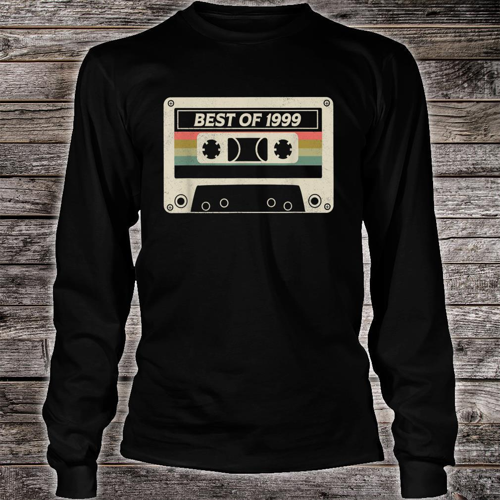 Best Of 1999 22nd Birthday Retro Cassette Tape Shirt long sleeved
