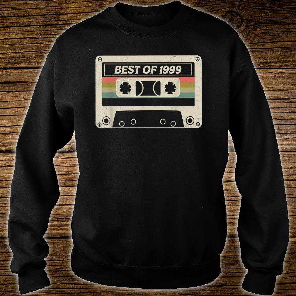 Best Of 1999 22nd Birthday Retro Cassette Tape Shirt sweater