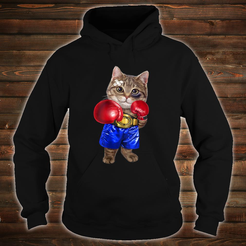 Boxer Tabby Cat Boxing Champion Fighter Shirt hoodie