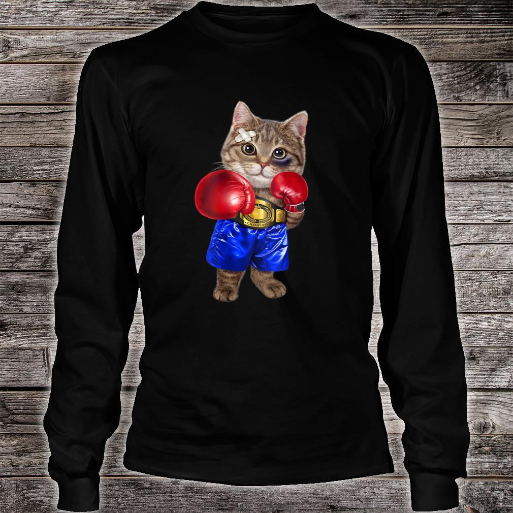 Boxer Tabby Cat Boxing Champion Fighter Shirt long sleeved