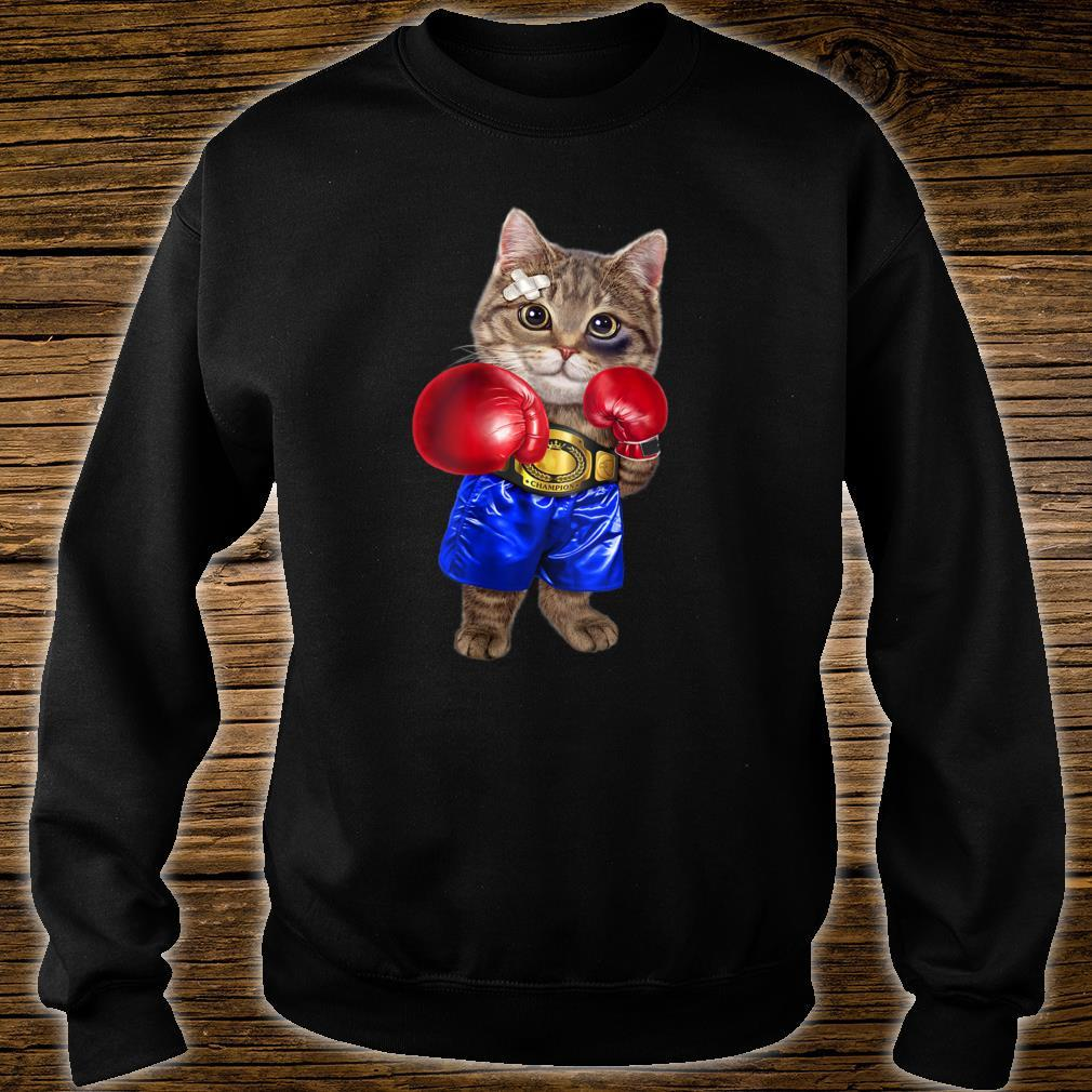 Boxer Tabby Cat Boxing Champion Fighter Shirt sweater