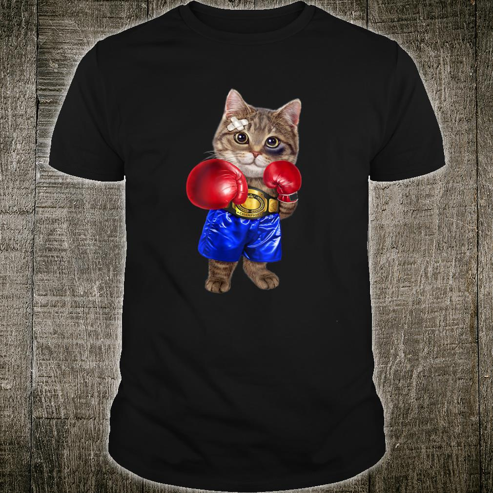 Boxer Tabby Cat Boxing Champion Fighter Shirt