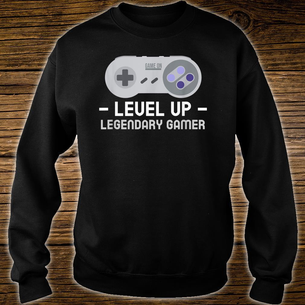 Boy video game legend birthday. Level up birthday Shirt sweater