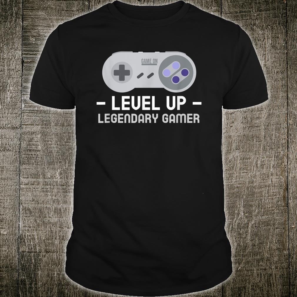 Boy video game legend birthday. Level up birthday Shirt