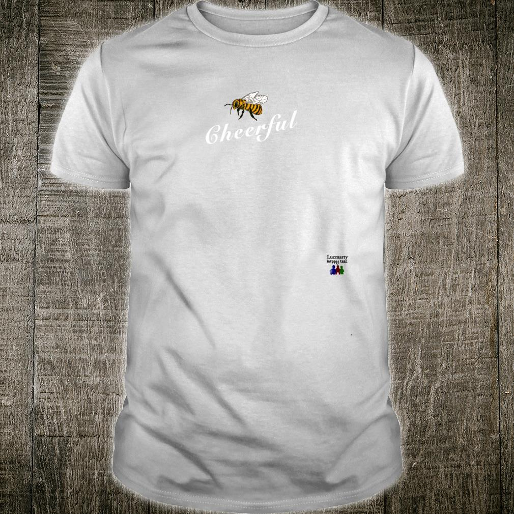 Cheerful Bee Letter Printed Be Happy Unisex  Shirt