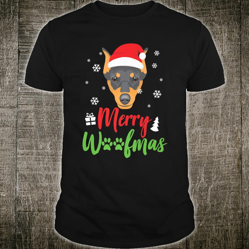 Christmas Dog Pinscher Merry Woofmas Shirt
