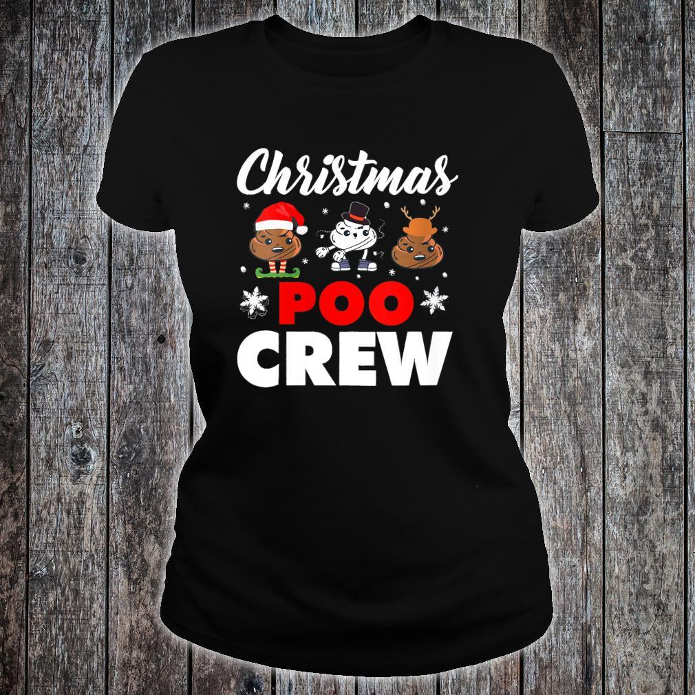 Christmas Poo Crew Outfit Holiday Christmas Emoji Shirt ladies tee