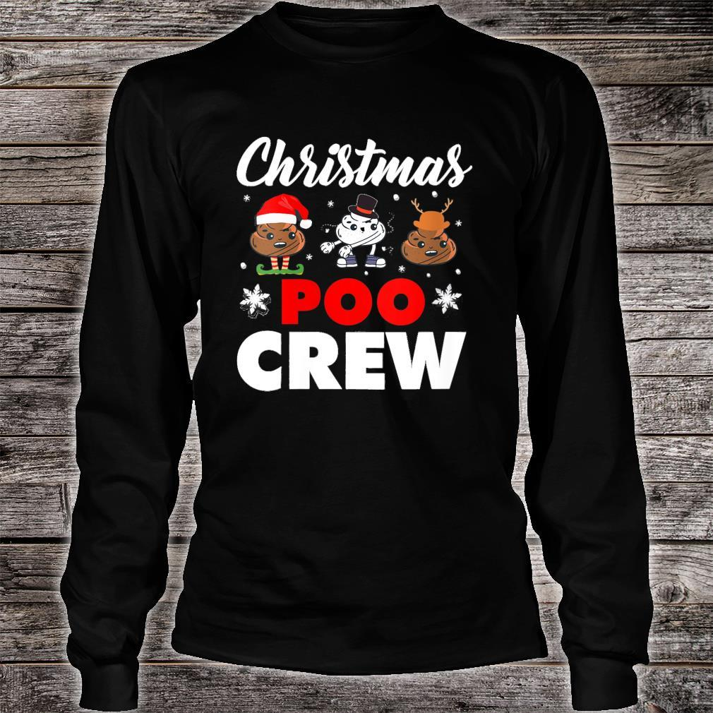 Christmas Poo Crew Outfit Holiday Christmas Emoji Shirt long sleeved