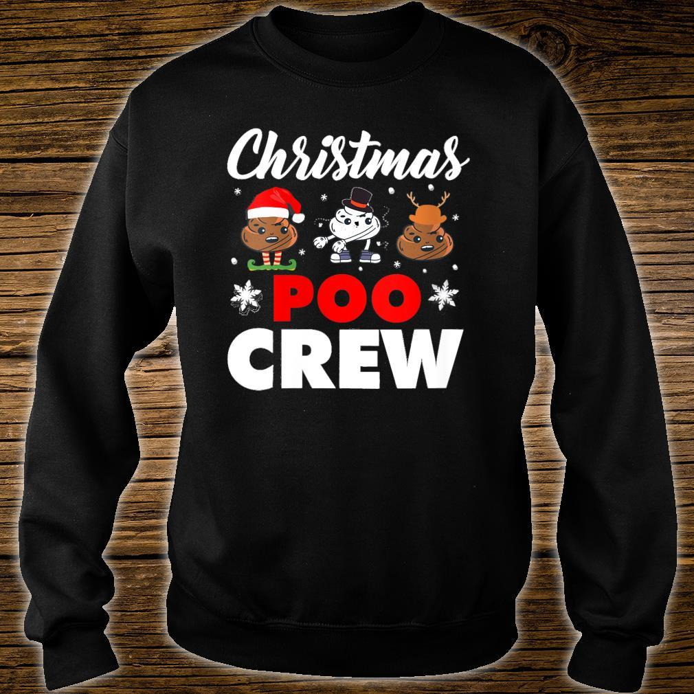 Christmas Poo Crew Outfit Holiday Christmas Emoji Shirt sweater