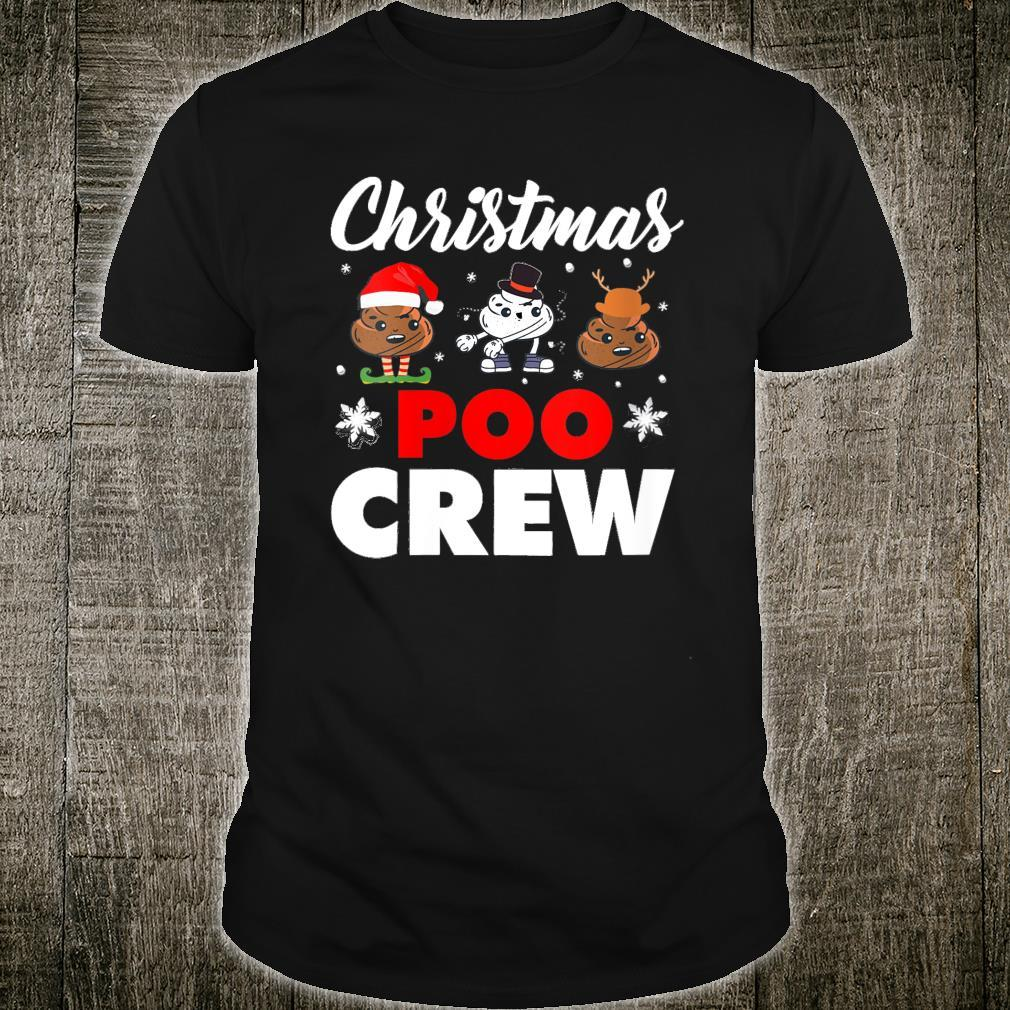 Christmas Poo Crew Outfit Holiday Christmas Emoji Shirt