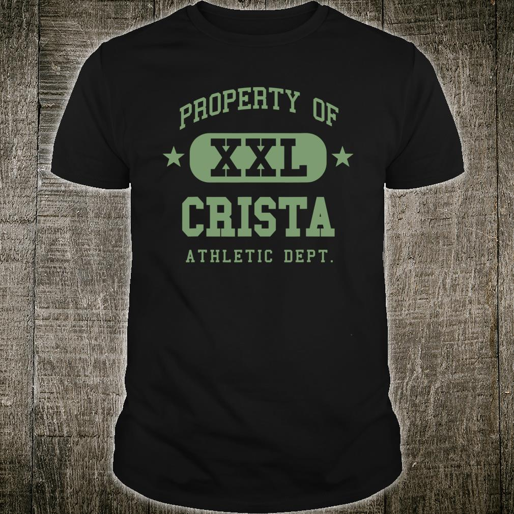 Crista Property XXL Family Name School Shirt