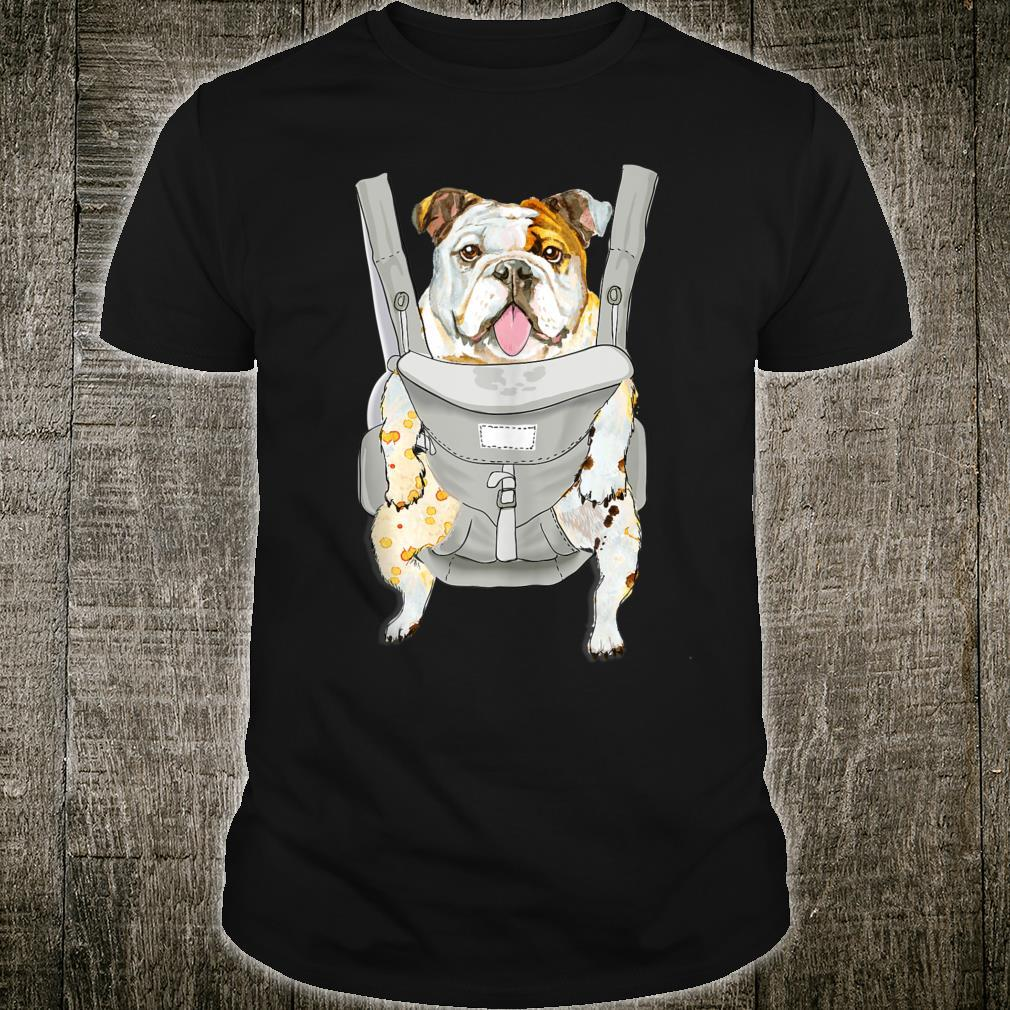 Cute puppy bulldog S English bulldog backpack carrier hirt