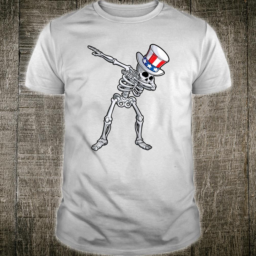 Dabbing Skeleton 4th Of July Uncle Sam Day Of The Dead Shirt