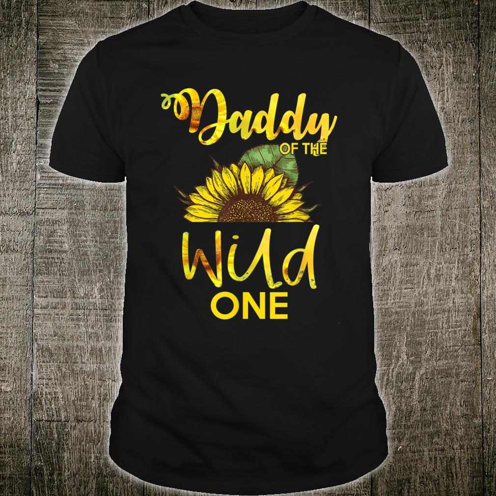 Daddy Of The Wild One1St Birthday Sunflower Outfit Shirt