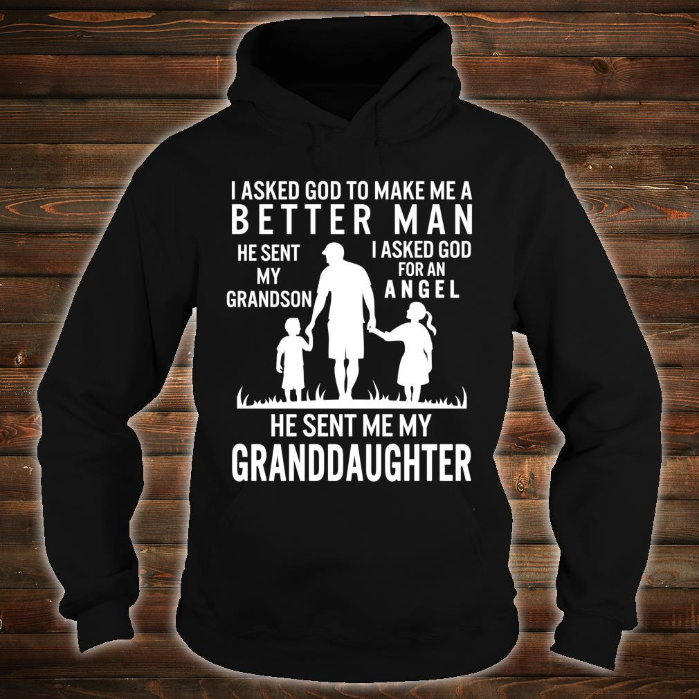 Fathers Day Grandpa Me Better Grandson Angel Granddaughter Shirt hoodie