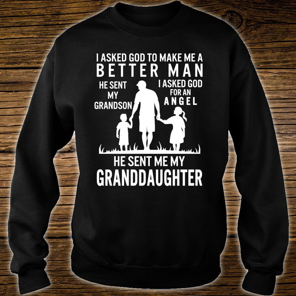 Fathers Day Grandpa Me Better Grandson Angel Granddaughter Shirt sweater