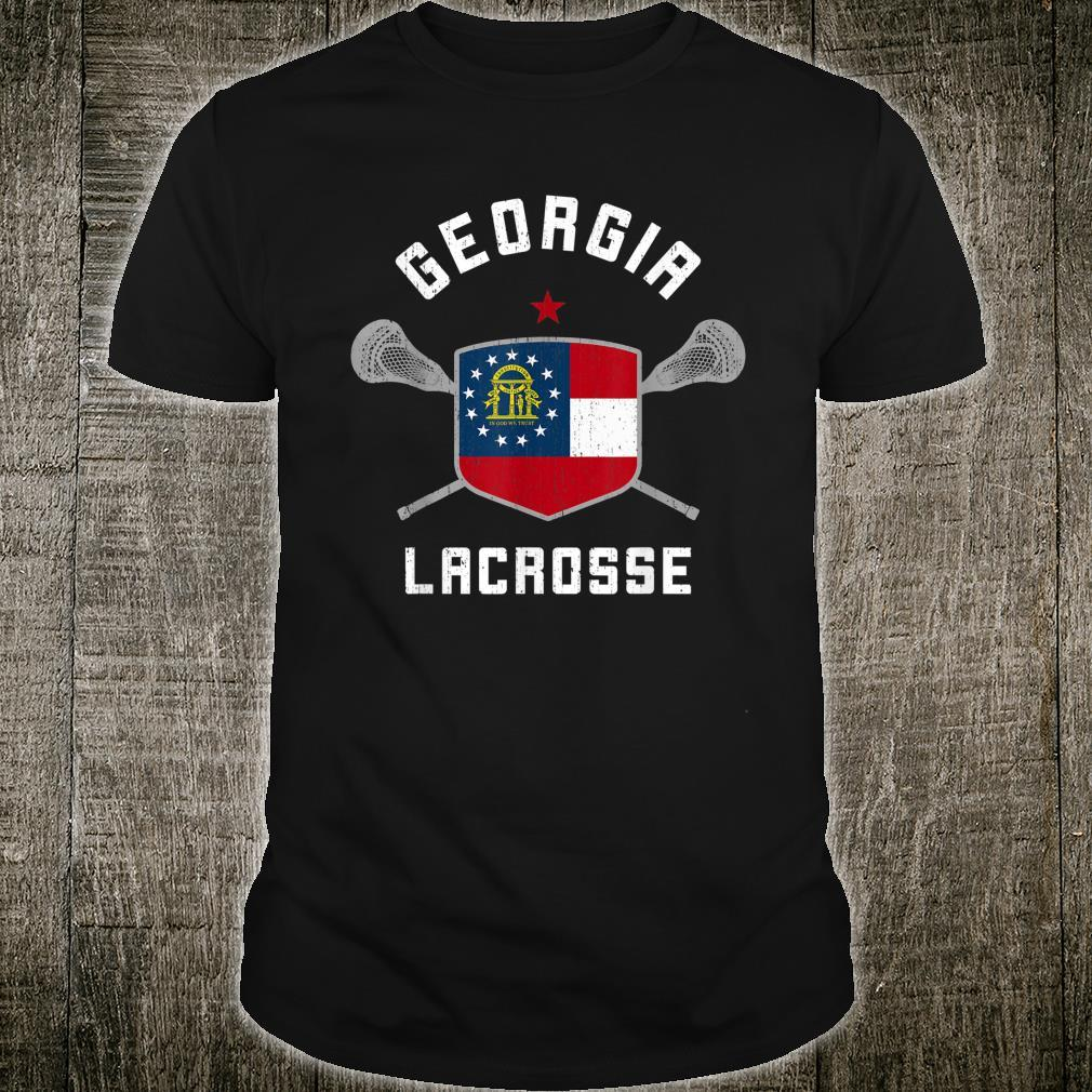 Georgia Lacrosse State Flag Lax GA Player Shirt