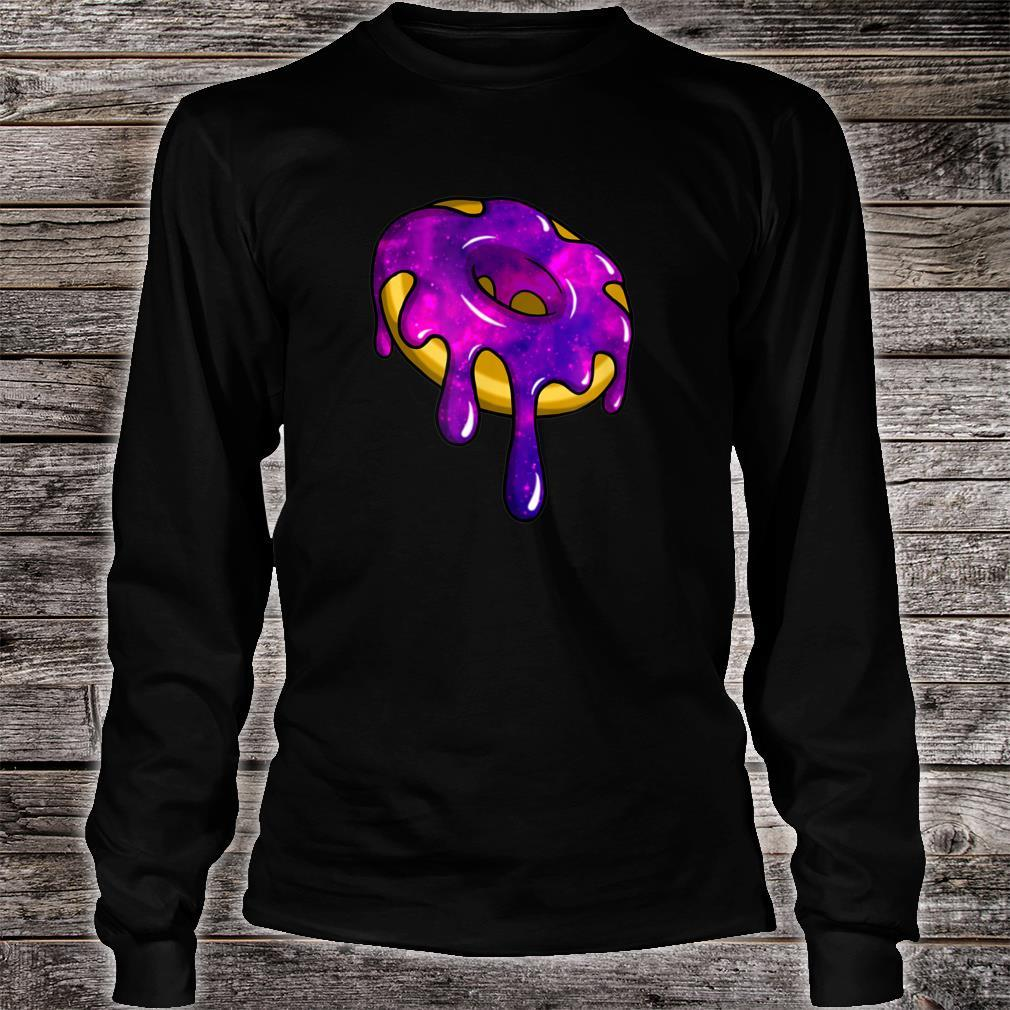 Glazed Galaxy Intergalactic Space Donut Shirt long sleeved