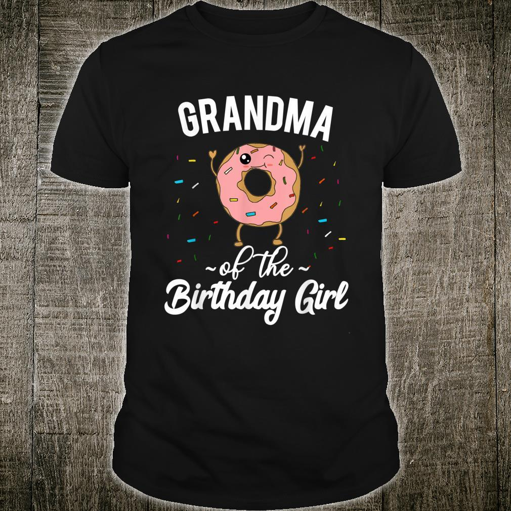 Grandma of the Birthday Girl Donut Themed Party Shirt