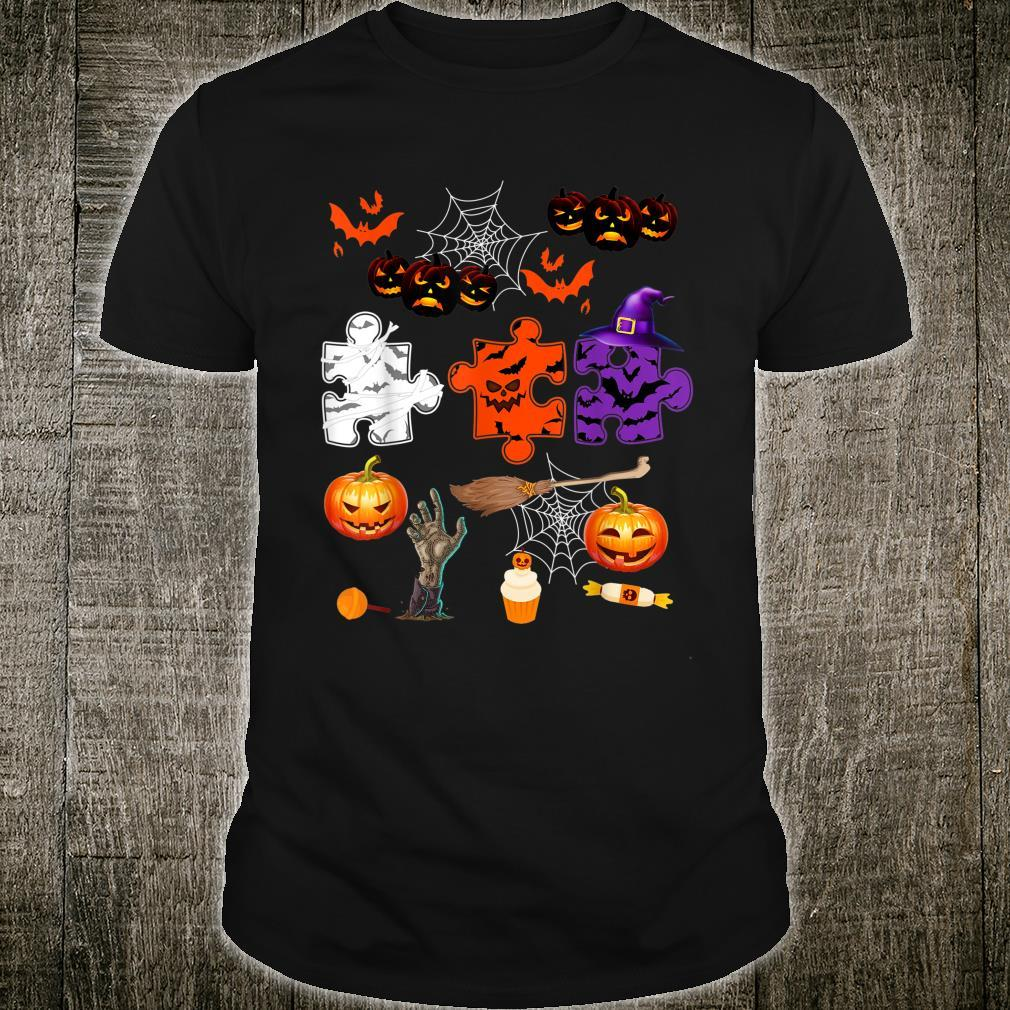 Halloween Autism Awareness Pumpkin Witch Autism Shirt