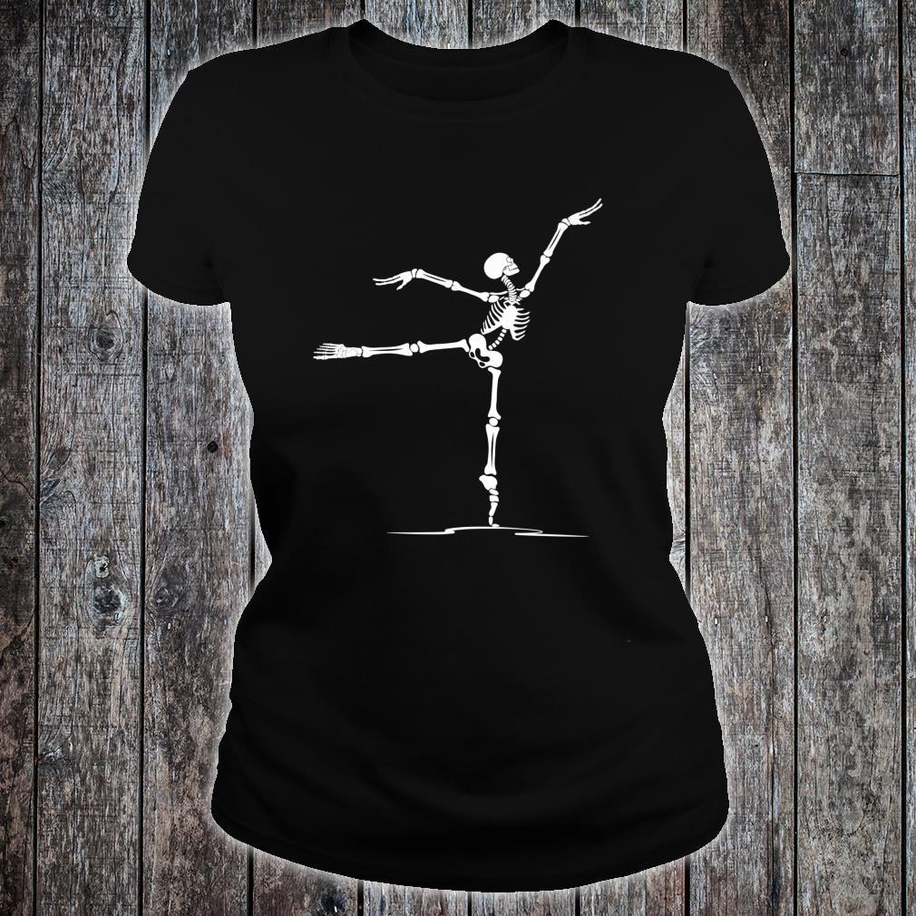Happy Halloween Ballet Dancer Skeleton Costume Shirt ladies tee