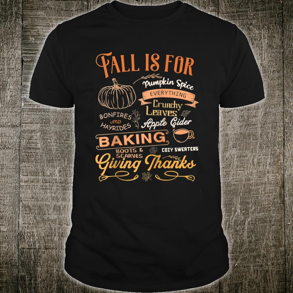 Happy Thanksgiving Autumn Fall Thankful Quote Shirt