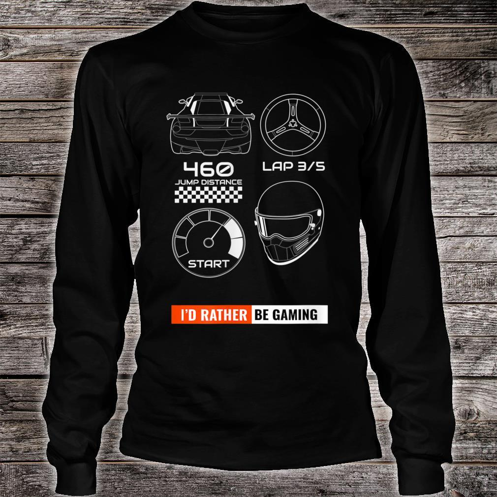 I'd Rather Be Gaming Pew Pew Rebel Space Travel Star Gate Shirt long sleeved