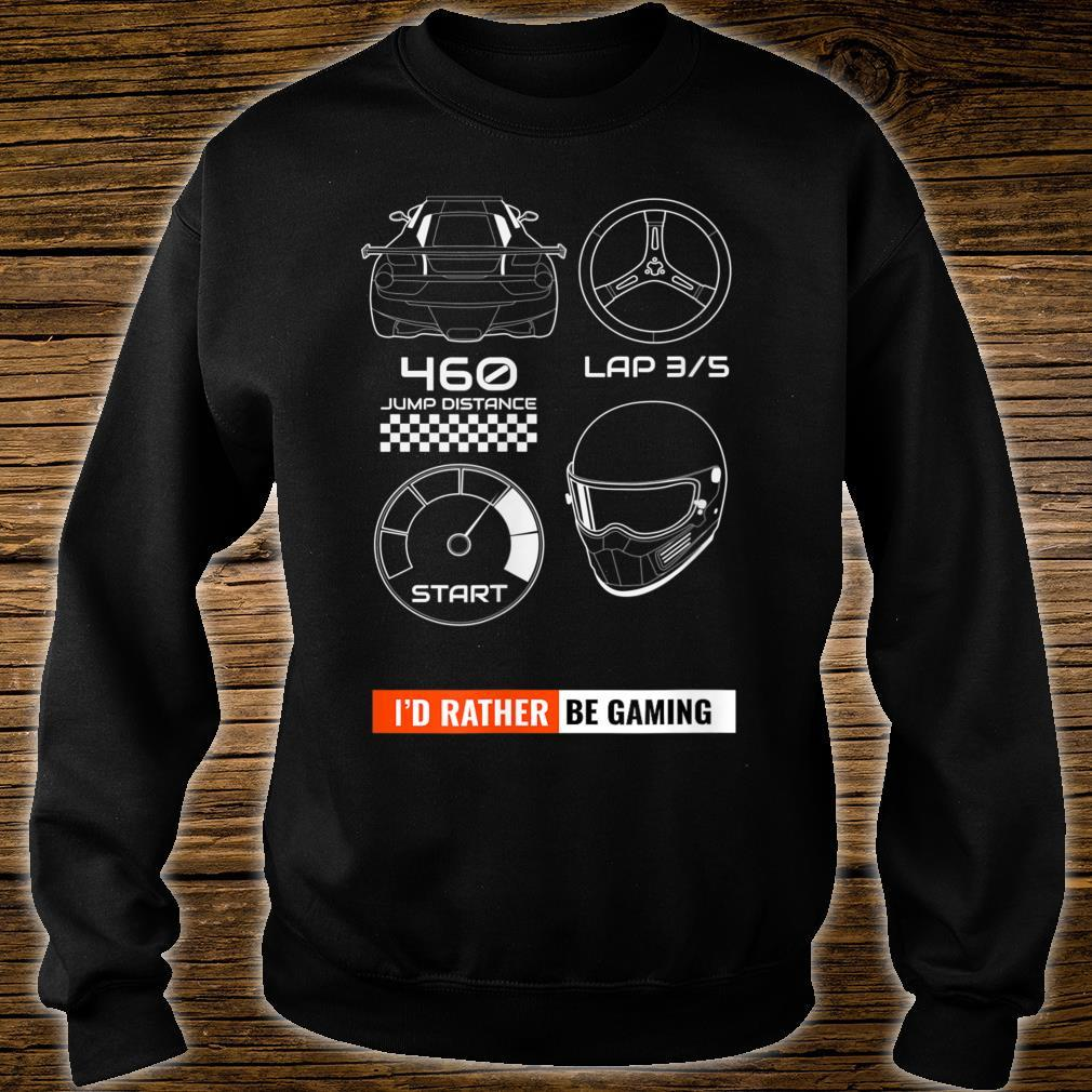 I'd Rather Be Gaming Pew Pew Rebel Space Travel Star Gate Shirt sweater