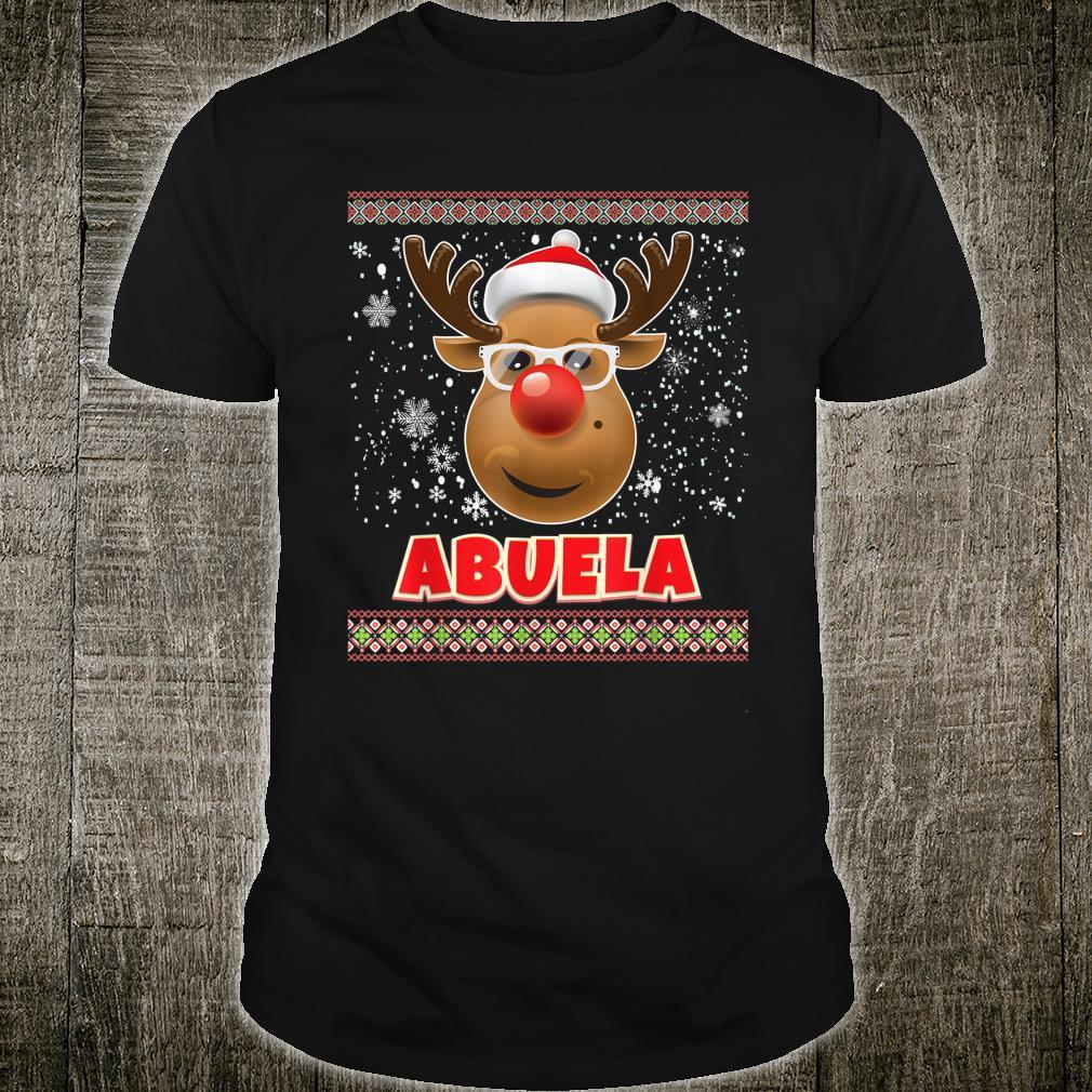 I'm The Abuela Reindeer Face Matching Family Christmas Shirt