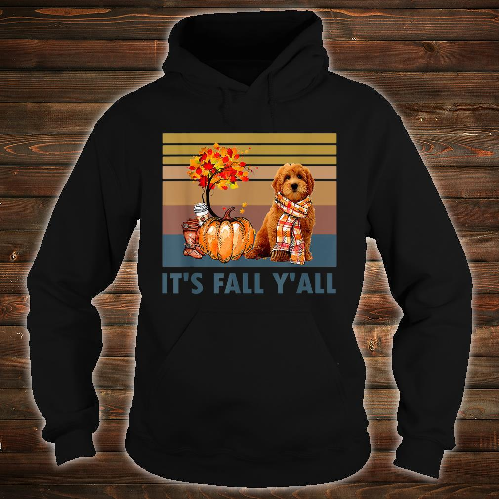 It's Fall Y'all Goldendoodle Vintage Halloween Shirt hoodie