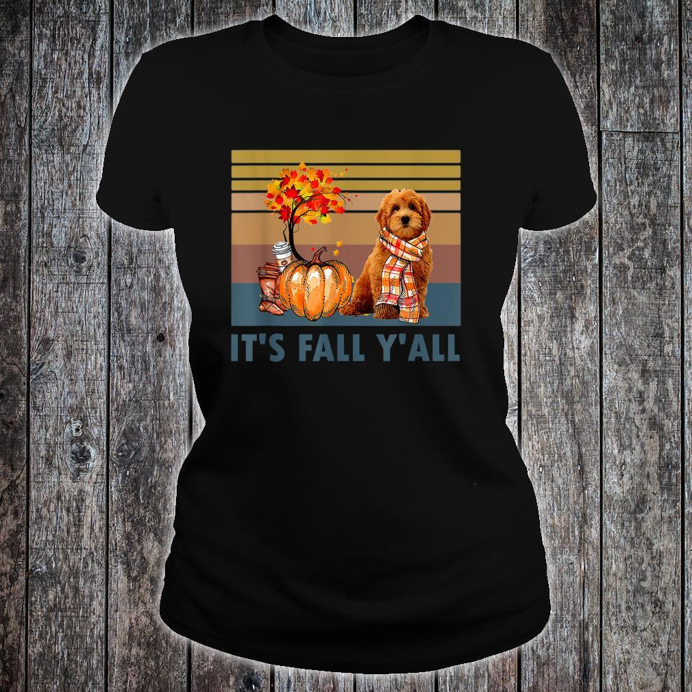 It's Fall Y'all Goldendoodle Vintage Halloween Shirt ladies tee