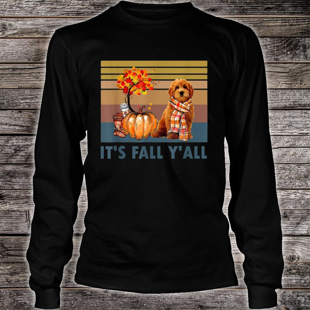 It's Fall Y'all Goldendoodle Vintage Halloween Shirt long sleeved