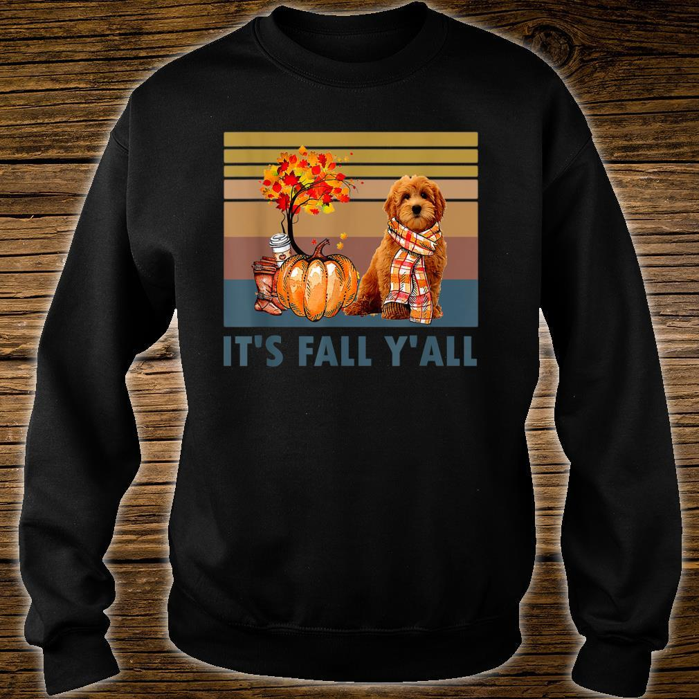 It's Fall Y'all Goldendoodle Vintage Halloween Shirt sweater