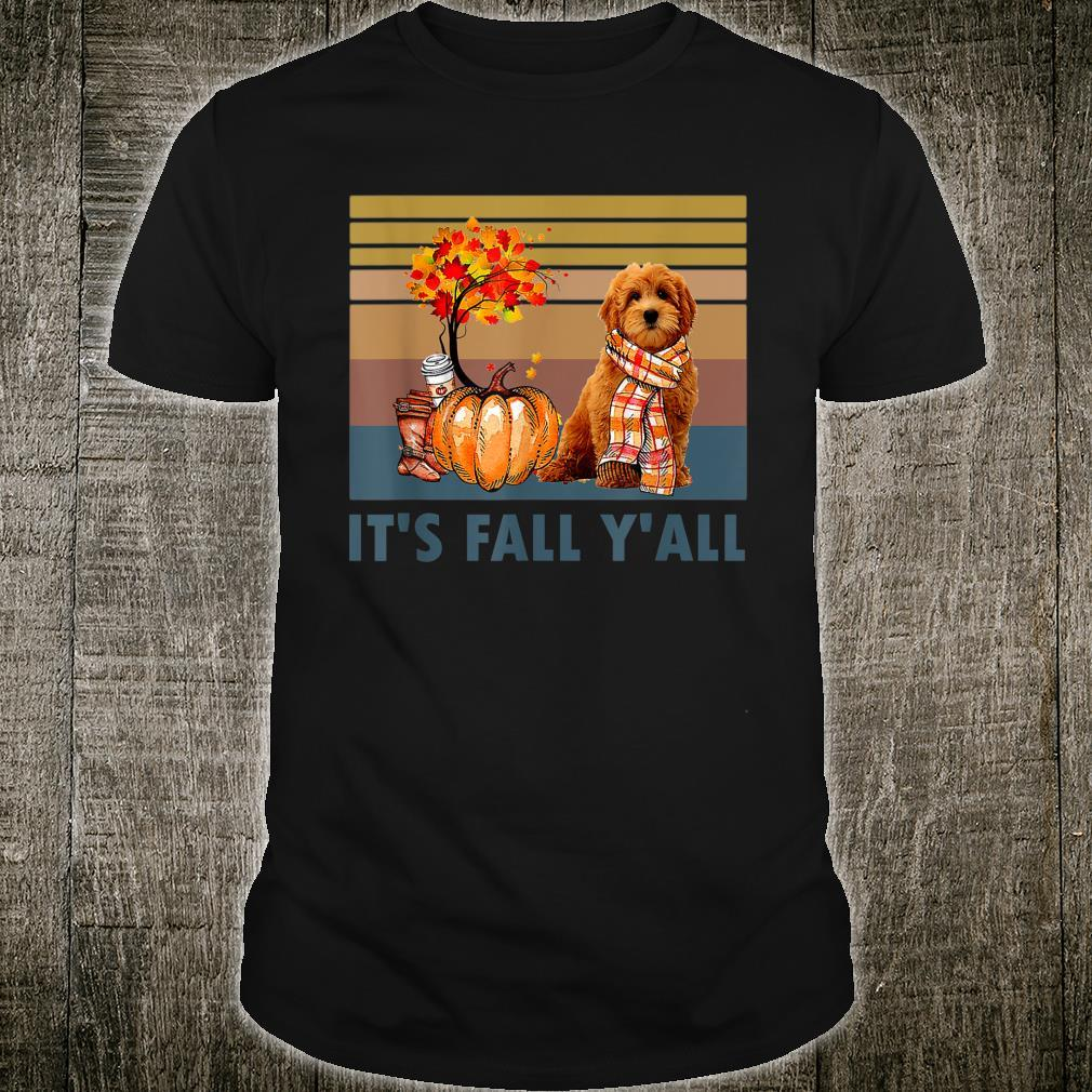 It's Fall Y'all Goldendoodle Vintage Halloween Shirt