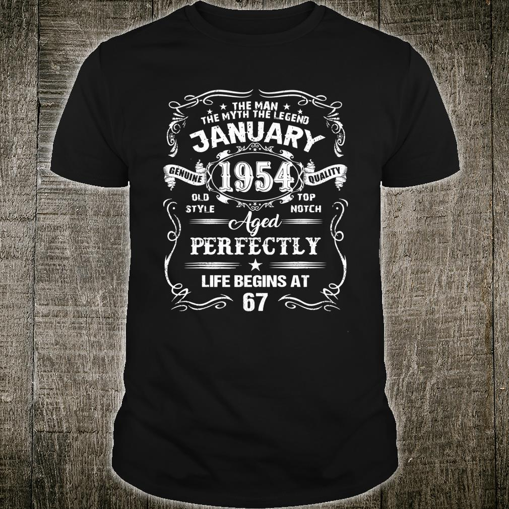 Legends Were Born In January 1954 67th Birthday Shirt