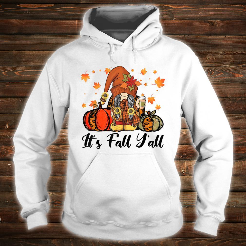 Leopard It's Fall Yall Gnome Pumpkin Autumn Matching Couples Shirt hoodie