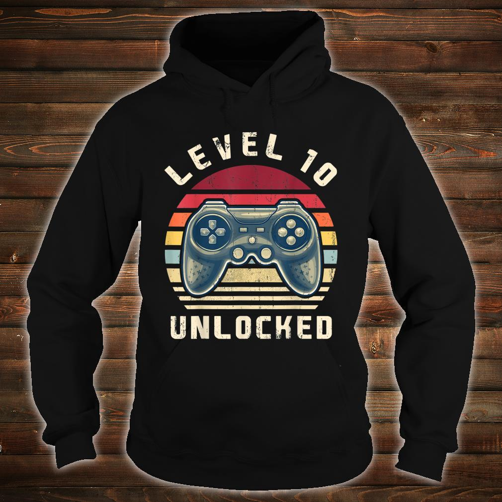 Level 10 Unlocked Video Gamer 10th Birthday Shirt hoodie