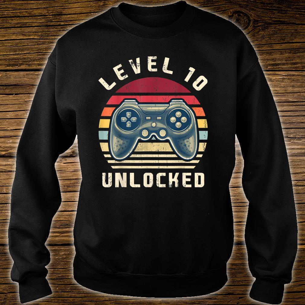 Level 10 Unlocked Video Gamer 10th Birthday Shirt sweater