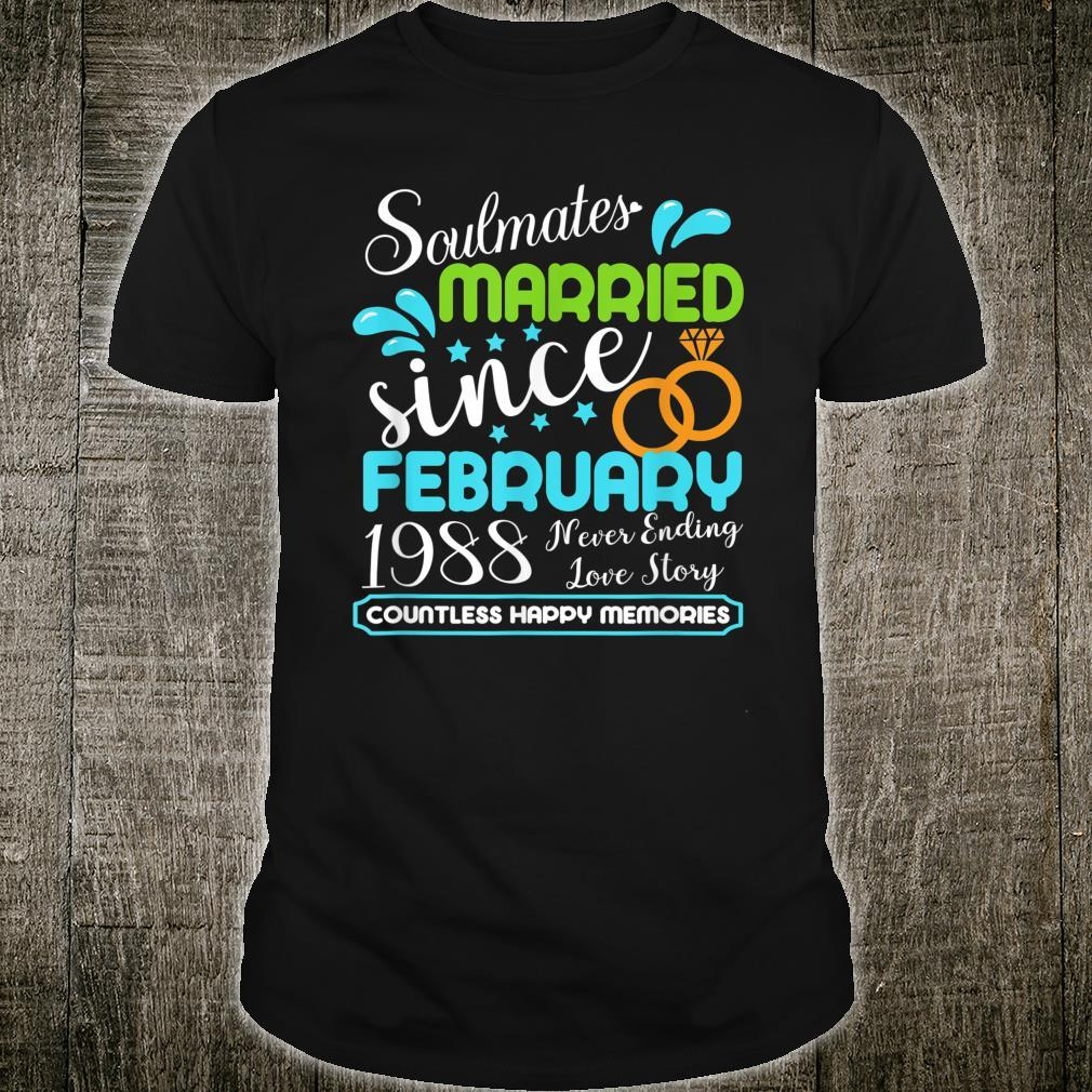 Married Since February 1988, 33rd Wedding Anniversary Shirt