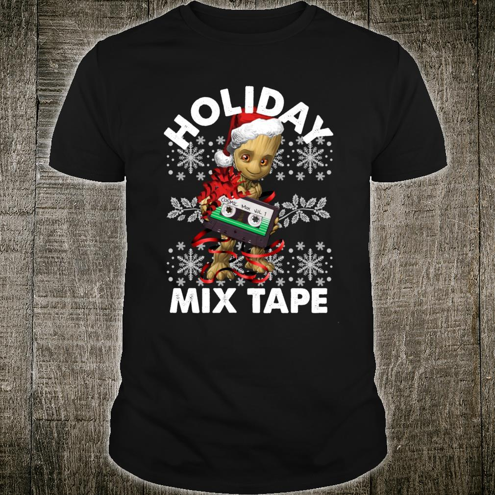 Marvel Guardians Of The Galaxy Groot Mix Tape Christmas Shirt