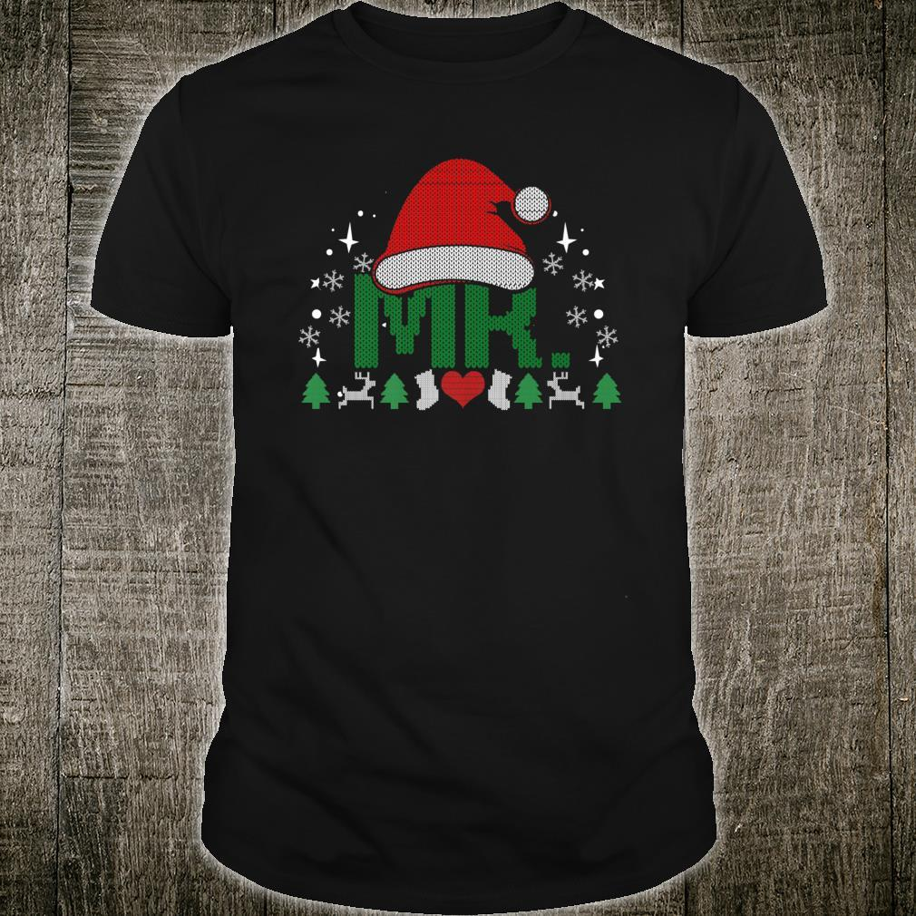 Mr Santa Ugly Christmas Outfit Matching Couples Shirt