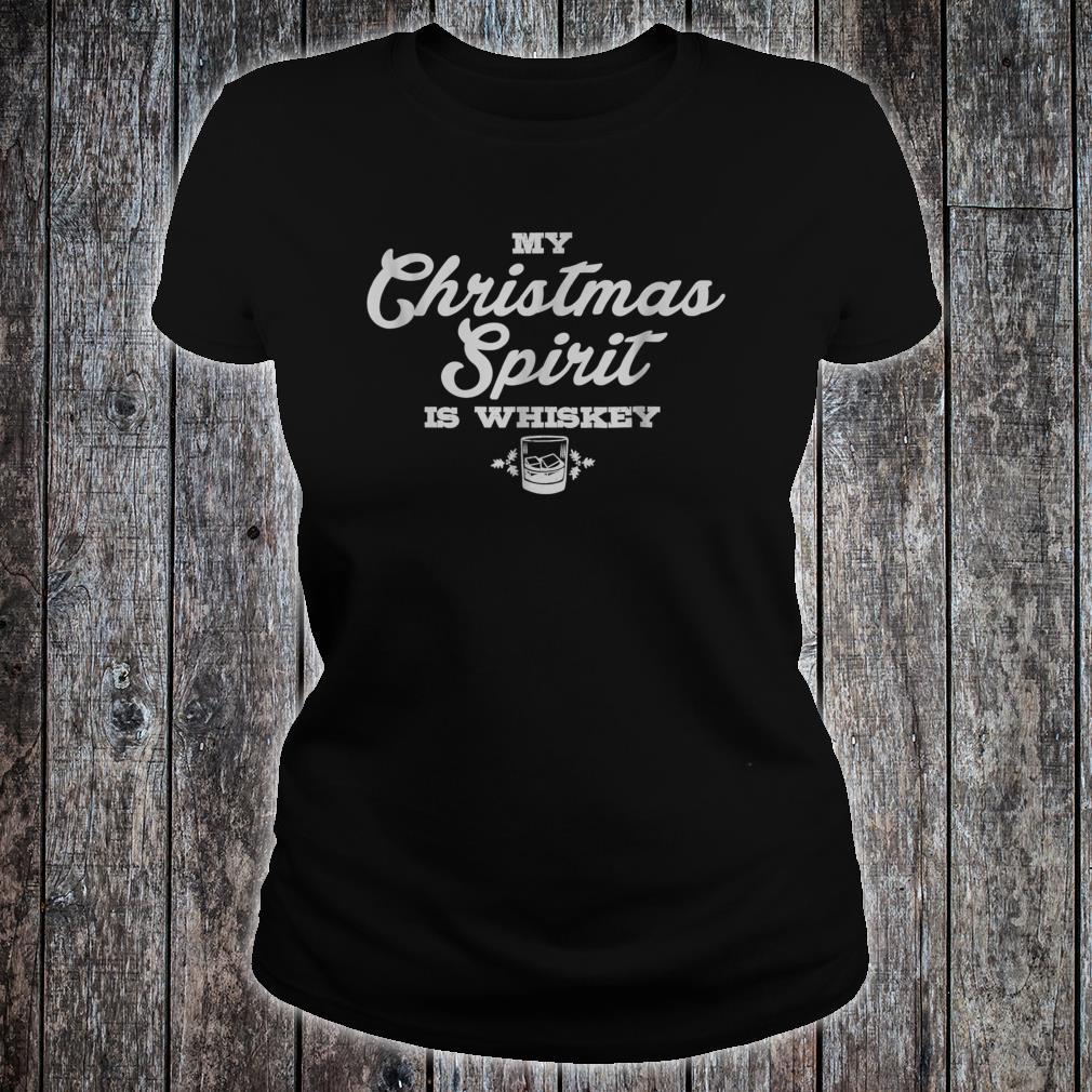 My Christmas Drinking Whiskey Liquor Drinker Saying Shirt ladies tee