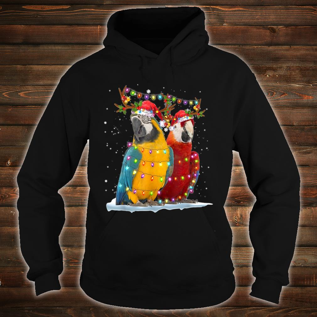 Parrot Reindeer Xmas Light Christmas Ornaments Santa Shirt hoodie