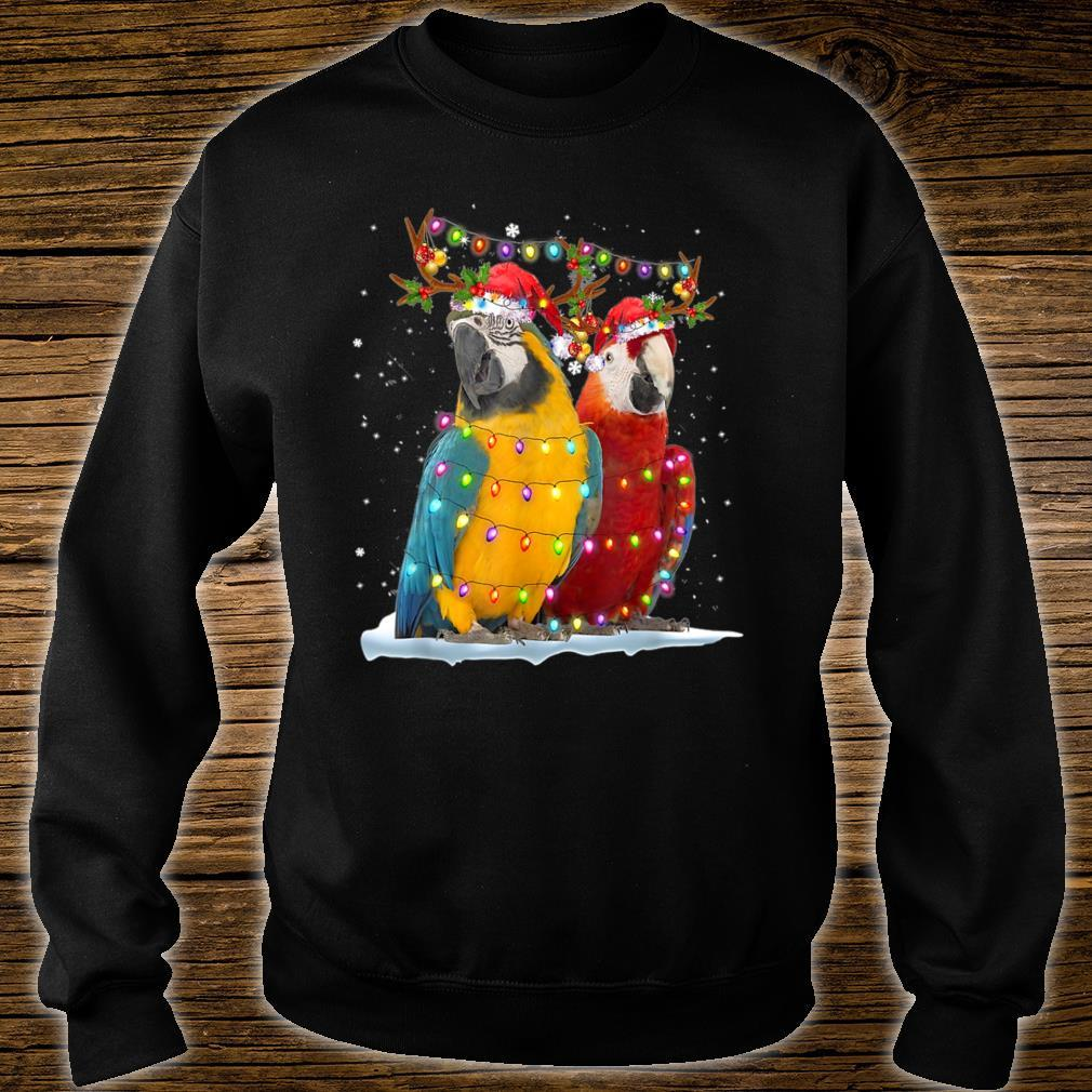 Parrot Reindeer Xmas Light Christmas Ornaments Santa Shirt sweater