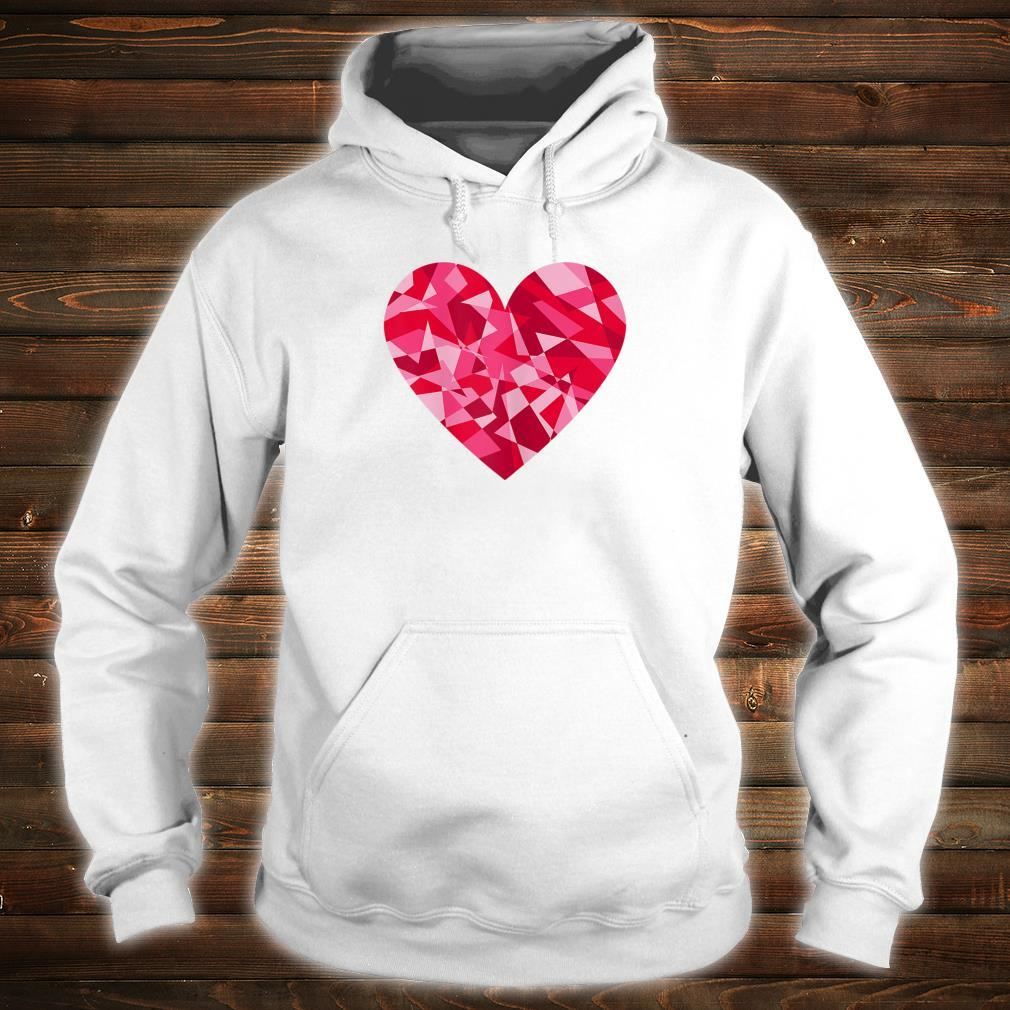 Pretty Mosaic Heart Valentines Day Shirt hoodie