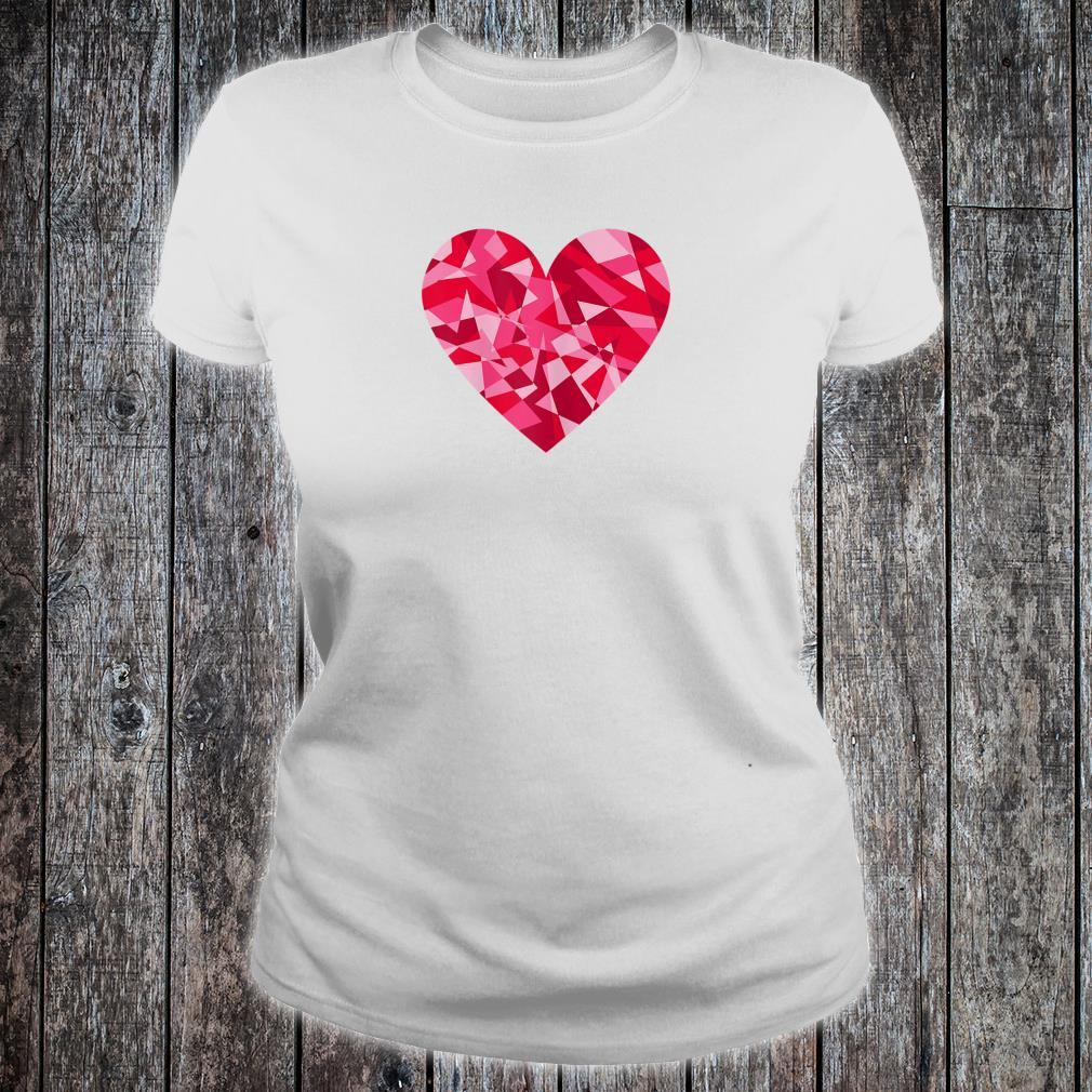 Pretty Mosaic Heart Valentines Day Shirt ladies tee